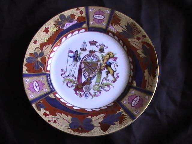 Royal Worcester Armorial plate